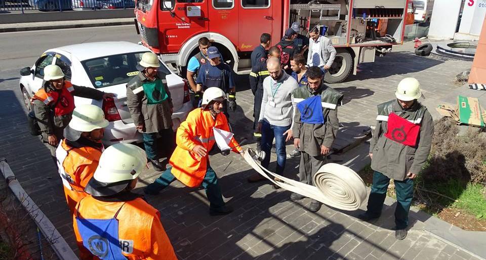 Feuerwehrausbildung im Libanon