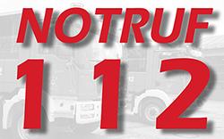 Notruf Feuerwehr und Rettungsdienst: 112