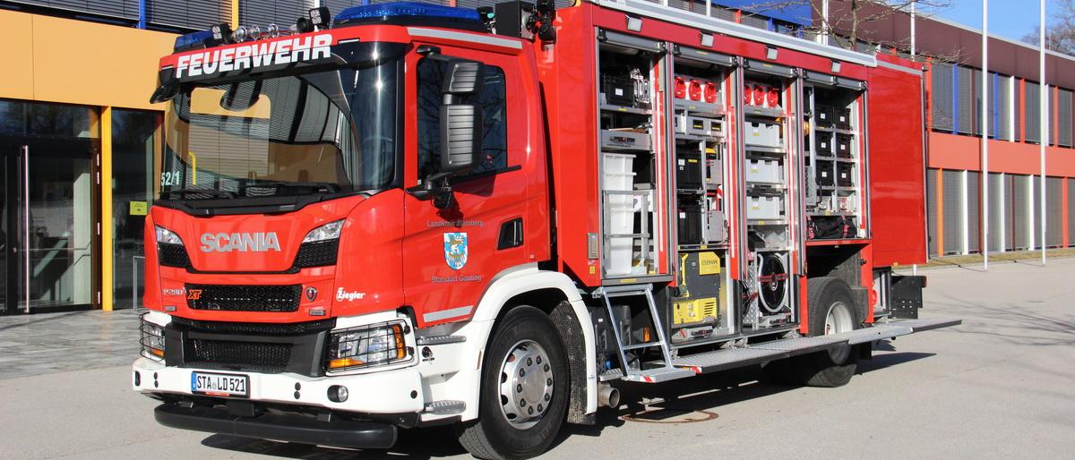 Permalink zu:Feuerwehr Gauting erhält Gerätewagen Gefahrgut des Landkreises Starnberg